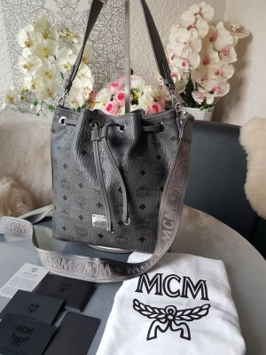 MCM Pouch Bag silver-colored-grey