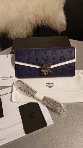 Original MCM Tasche Millie Schulterkette NEU mit Etikett Rechnung Wallet navy blue