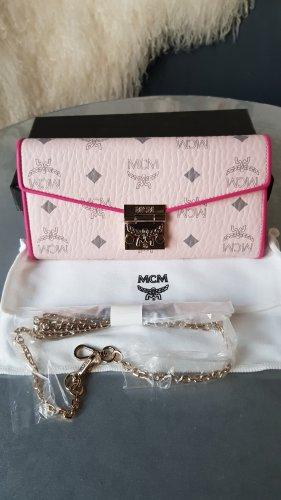 Original MCM Tasche Patricia Wallet powder pink NEU & Schulterkette