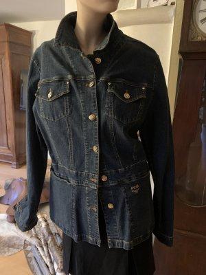 MCM Veste en jean bleu foncé