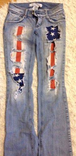 MET Jeans vita bassa blu