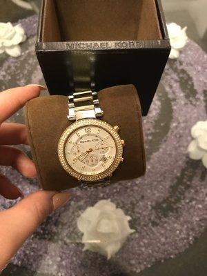 Original Michael Kore Uhr gold/silber