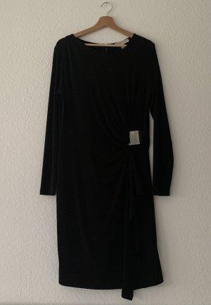 Original Michael Kors Abendkleid mit silberner Schnalle drapiert