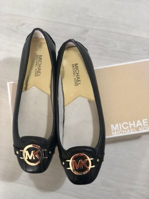 Michael Kors Classic Ballet Flats black-gold-colored