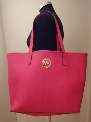 Michael Kors Tote raspberry-red-gold-colored leather