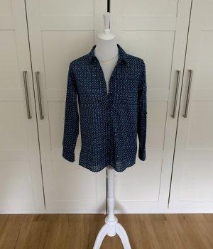 Original Michael Kors Designerbluse Bluse Hemd Blusenhemd Hemdbluse gemustert