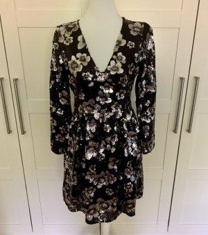 Michael Kors Robe à paillettes argenté-noir