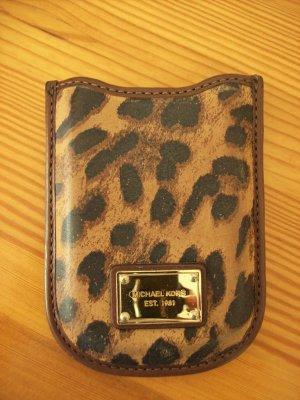 Original Michael Kors Handytasche braun mit Animalprint