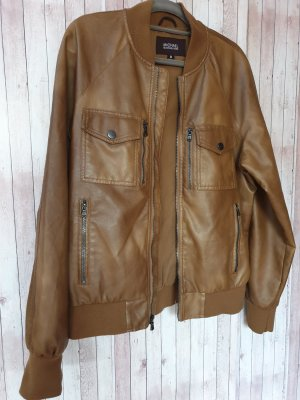 Michael Kors Leather Jacket cognac-coloured