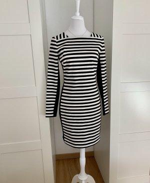 Original Michael Kors Kleid Etuikleid Geschäftskleid Abendkleid gestreift Gr 6 Rückenausschnitt