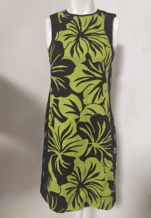 Original Michael Kors Kleid grün schwarz Blumen Muster XS-S 34-36