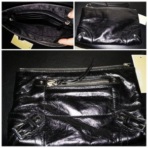 original Michael Kors Ledertasche Tasche Leder schwarz neu