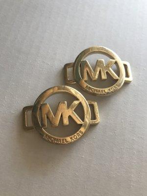 Michael Kors Llavero marrón arena metal