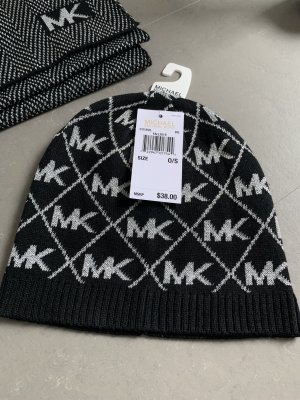 Michael Kors Knitted Hat black-silver-colored