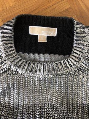 Michael Kors Sweter z okrągłym dekoltem srebrny
