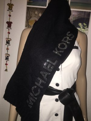 Michael Kors Knitted Scarf black-silver-colored