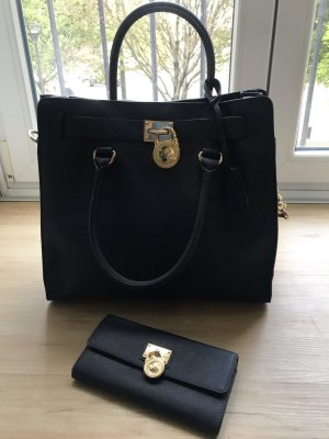 Original Michael Kors Tasche Marineblau-Gold