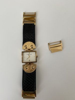 Original Michael Kors Uhr aus New York gebraucht aber guter Zustand schwarz Gold