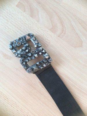 Miss Sixty Cintura di pelle nero Pelle