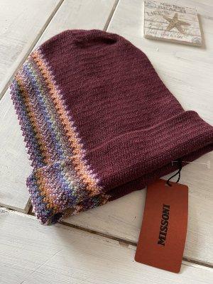Missoni Beanie bordeaux-dark red wool