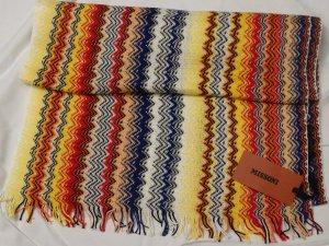 Missoni Sciarpa con frange multicolore Cotone