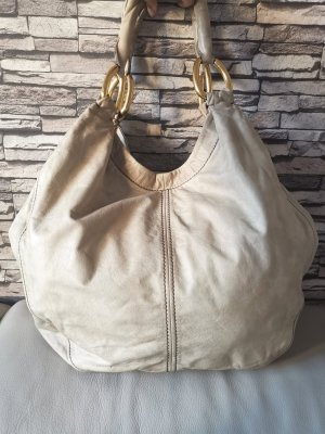 Original Miu Miu Beuteltasche Tasche beige Creme echt Leder Handtasche