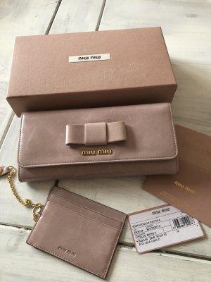 Miu Miu Wallet dusky pink leather