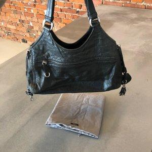 Original MIU MIU Schulter-Handtasche / Weiches Handschuhleder Farbe: Schwarz