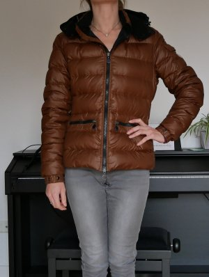 Original Moncler BEA Daunenjacke braun/schwarz Gr.2 36/38 Winterjacke Jacke Damen