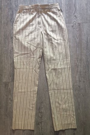 Moncler Spodnie materiałowe jasnobeżowy Tkanina z mieszanych włókien