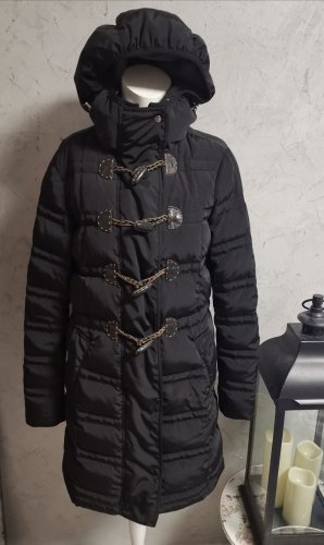 Moncler Down Coat black mixture fibre