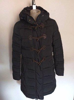 Moncler Manteau en duvet noir tissu mixte