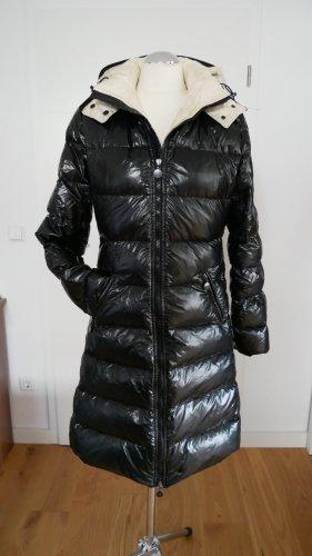 Moncler Manteau en duvet noir-blanc
