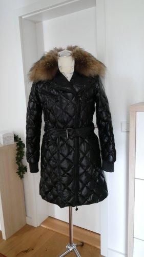 Original Moncler Luxus Mantel Milbrook Daunenmantel schwarz Gr.40/42 M/L 4 Rauten Steppmantel Chanel Pelz/Fell
