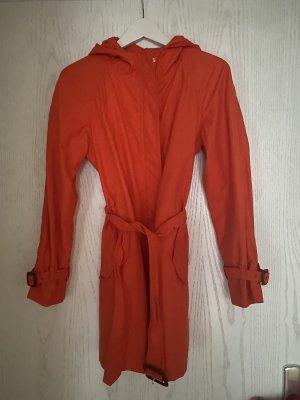 Moncler Hooded Coat orange