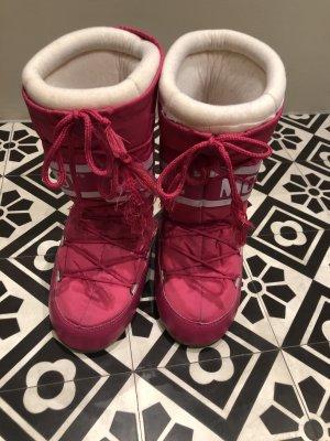 Moon boot Halfhoge laarzen roze-wit