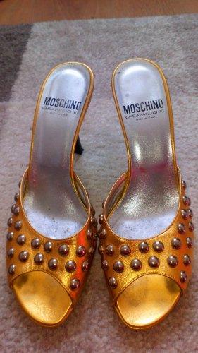 original Moschino Highheels Vintage RARE in Gold