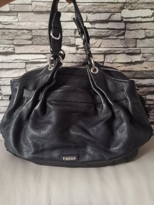 Moschino Bowling Bag black leather