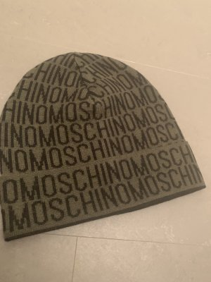 Moschino Knitted Hat green grey-black