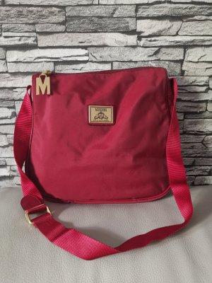 Original Moschino Redwall Vintage Tasche Umhängetasche rot