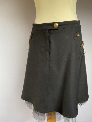 Moschino Miniskirt black-gold-colored