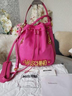 Original Moschino Tasche Beuteltasche pink Rechnungskopie