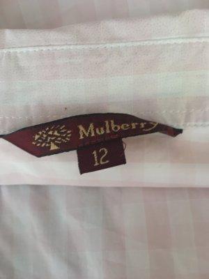 Mulberry Camicia a scacchi bianco-rosa pallido