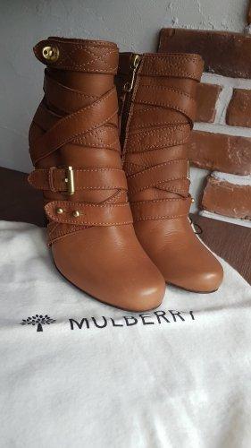 Mulberry Botas con cremallera marrón claro-marrón Cuero