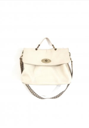 Mulberry Handbag natural white-gold-colored leather