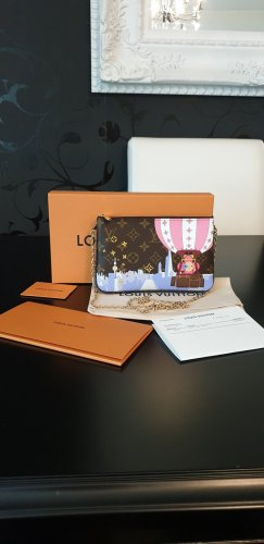 Original Neu Louis Vuitton Double Zip Pochette