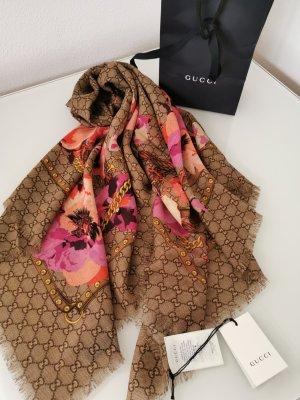 Original Neu Luxury GUCCI Schal Tuch GG feine Wolle
