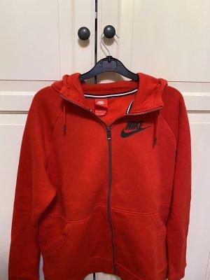 Nike Gilet à capuche rouge