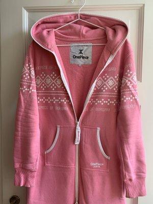 Original Onepiece Onesie in rosa mit Norwegen-Muster