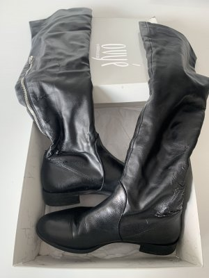Ovyé Buty nad kolano czarny